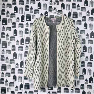 Anthropology Oliver by Escio Diamond Sweater Coat